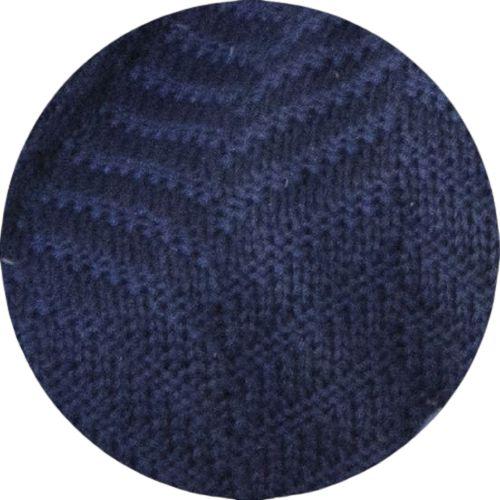Manta De Tricô Azul Marinho 049-06 - 0,90 x 1,80