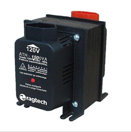 Transformador Ragtech ATH 1500VA 50-60HZ Entrada 120V/220V Saída 120V/220V