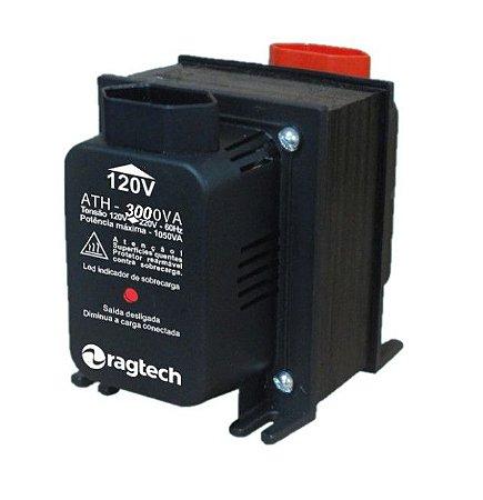 Transformador Ragtech ATH 3000VA 50-60HZ Entrada 120V/220V Saída 120V/220V
