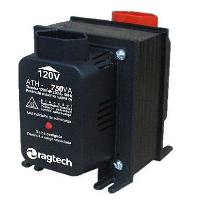 Tranformador Ragtech ATH 750VA 50-60HZ Entrada 120V/220V Saída 120V/220V