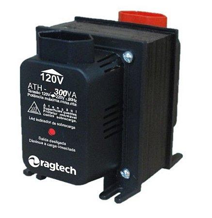 Tranformador Ragtech ATH 300VA 50-60HZ Entrada 120V/220V Saída 120V/220V