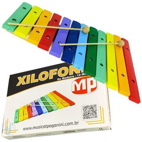 Xilofone Paganini 12 notas madeira PXL812