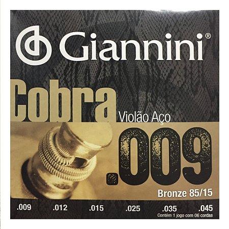 Encordoamento Violão Giannini GEEWAK 009