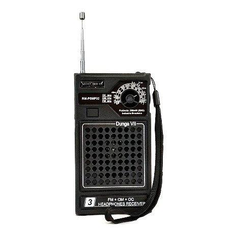 Rádio Portátil 3 Faixas- OM/FM/OC RM -PSMP32 3fxs Dunga