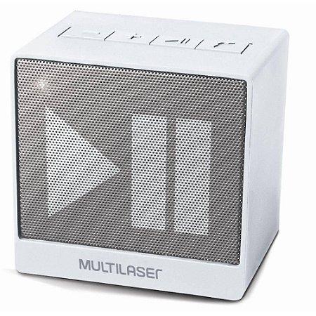 Caixa De Som Mini Aux. 8W Bluetooth Branca Multilaser - SP278