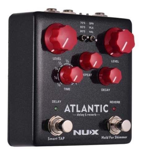 Pedal Atlantic Delay, Reverb E Shimmer Ndr5- Nux