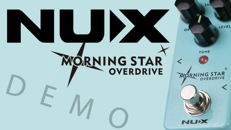 Pedal Overdrive Para Guitarra - Morning Star - Nod-3 - Nux