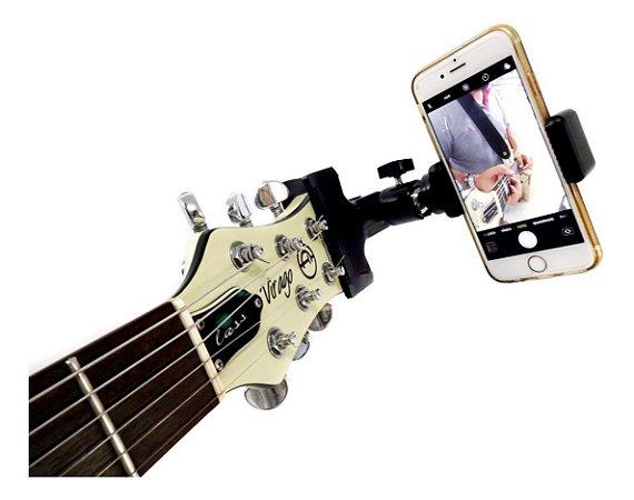 Suporte Para Celular Paganini Guitar Selfie Preto