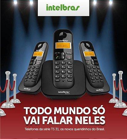 Telefone sem Fio Intelbras com 2 Ramais TS 3113