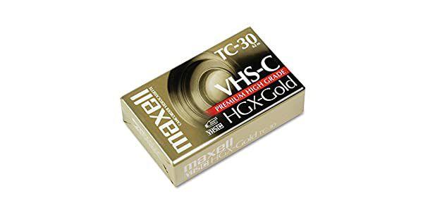 Fita VHS TC30 Maxell HGX-Gold Premium High Grade
