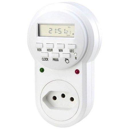 Timer Temporizador Digital 24 Horas - Liga /desliga Aparelhos 1500W