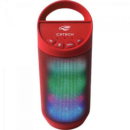 Caixa Multimídia 8W RMS Bluetooth SP-B50 Vermelha C3TECH