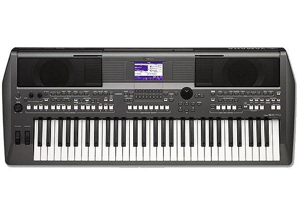 Teclado Arranjador Yamaha USB PSR-S670 C/ Fonte