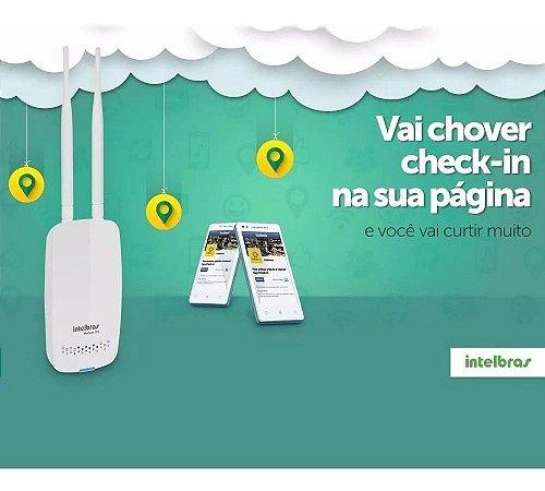 Roteador Wi-Fi Intelbras Hotspot 300 2 Antenas C/ Check-in no Facebook