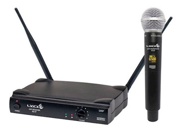 Microfone Sem Fio De Mão  UH-07M Lyco UHF
