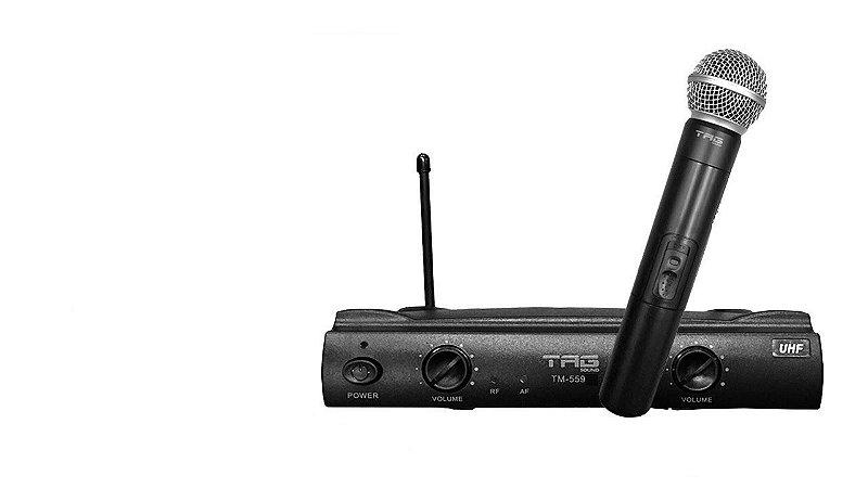 Microfone Tag Sound TM-559 Preto Sem Fio