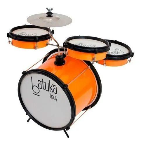 Bateria Musical Infantil Luen Bumbo Laranja