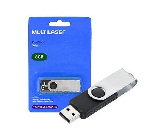Pen Drive Multilaser Twist 8GB PD587
