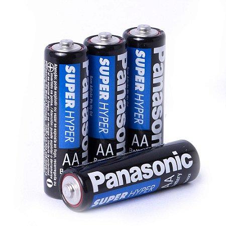 Pilha Pequena Panasonic  AA c/4 unidades
