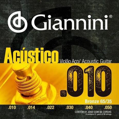 Encordoamento Giannini para Violão Geswam aço 010