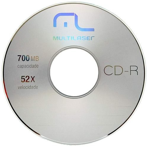 CD-R  Mídia Virgem Multilaser 700mB 52x Unidade s/embalagem