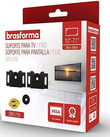 Suporte Brasforma P/TV LCD  SBRU-750 universal 10''-71''