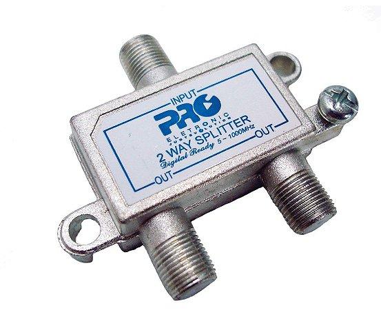 Divisor para Antena Digital Proeletronic com 2 Saídas  Pqdv-1022