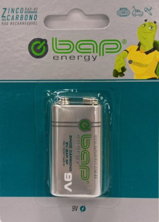 Bateria 9V BAP zinco BAP-6F