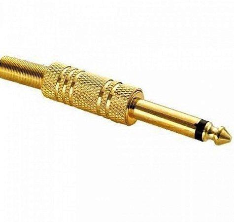 PlugP10 mono metal Dourado Unidade