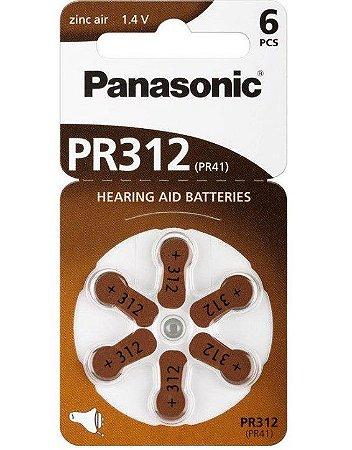 Bateria p/aparelho auditivo PR-41 Tamanho 312   c/6 unidades