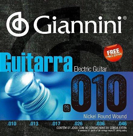 Encordoamento para Guitarra Giannini geegst10  010