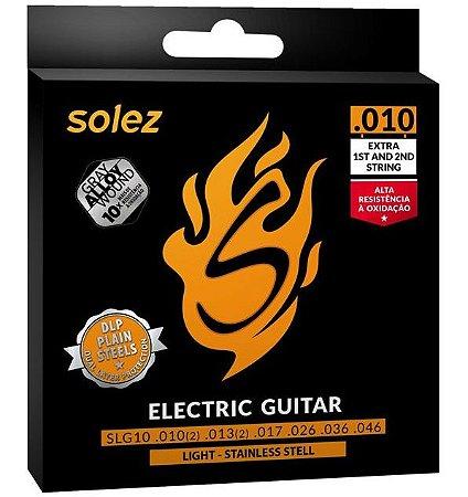 Encordoamento P/ Guitarra Solez 010 -- Modelo SLG10