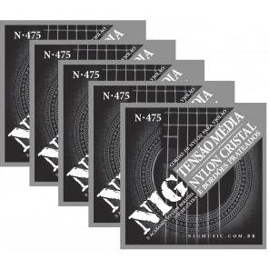 Encordoamento Cordas NIG N475 Tensão Média para Violão Nylon