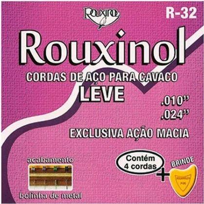 Encordoamento Cavaquinho Aço,Tensão Leve Rouxinol R-32