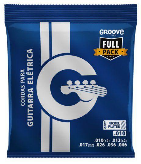Encordoamento P/Guitarra Groove 010 GFP2