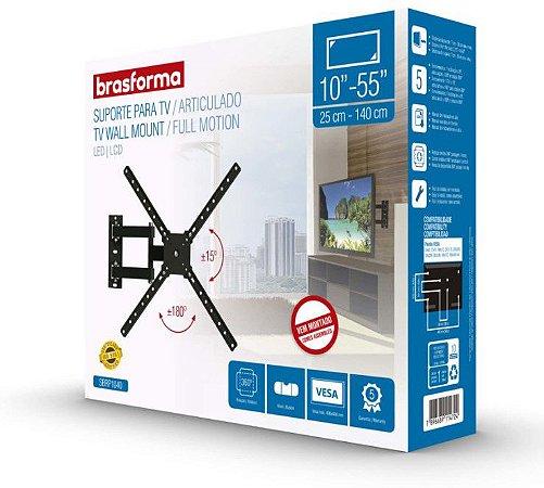 "Suporte ARTICULADO para TV LED, LCD de 10"" a 55"" – Brasforma SBRP 1040"