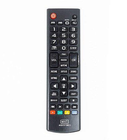 Controle Remoto MXT p/ TV LG AKB73715613 tv led/lcd