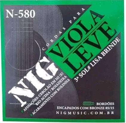 Encordoamento NIG VIOLA N-580 Bronze 85/15