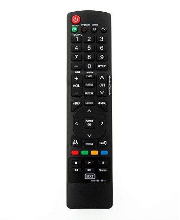 Controle Remoto MXT p/ TV LG AKB72915214   LCD/LED