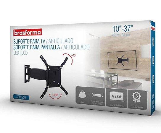 "Suporte Articulado para TV LED, LCD de 10 ""a 37"" – Brasforma SBRP 230"