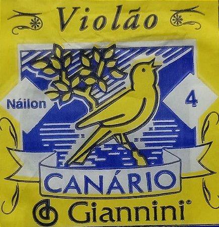 Corda P/ Violão Canário 4º nylon Sem bolinha   GEWN.4
