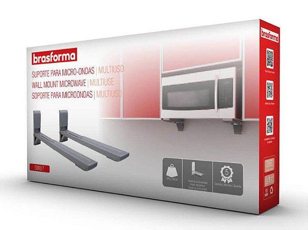 Suporte para Forno Micro-ondas – Brasforma SBR 3.7 – Prata (Com braço ajustável)