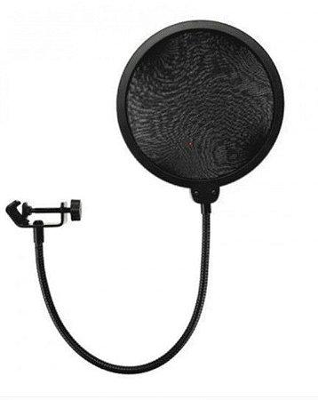 """Protetor """"Pop Filter"""" p/ microfone de estúdio  PEM-01"""