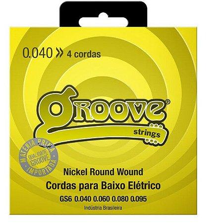 Encordoamento p/ Contra Baixo 4 cordas Groove 040 GS6