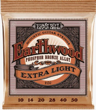 Encordoamento p/ Violão Ernie Ball Aço 010 Earthwood Fósforo Bronze 2150