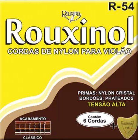 Encordoamento p/ Violão Nylon Rouxinol Tensão Alta R-54