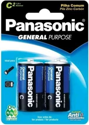 Pilha Comum Média C Panasonic