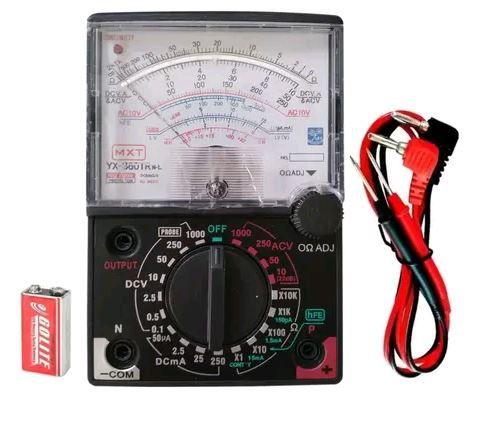 Multímetro Analógico FT-360TRNL C/ LED Indicador de continuidade - Mxt