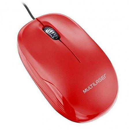 Mouse multilaser box vermelho
