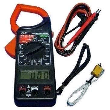 Alicate Amperímetro E Multímetro Digital Temperatura GC-266c
